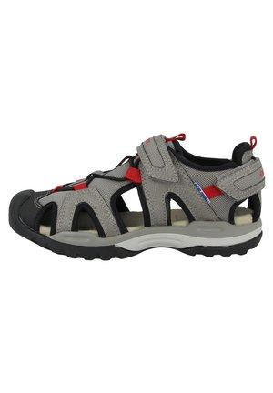 Walking sandals - grey-red (j020ra014mec0051)