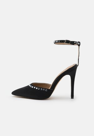 TRIM HEELED SHOES - High heels - black