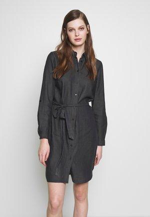 VIBISTA BELT DRESS - Shirt dress - black