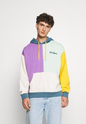 PATCHWORK HOODIE - Sweatshirt - mint/beige/lavender