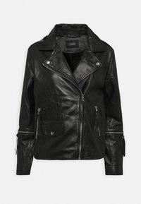 BECCA - Leather jacket - black