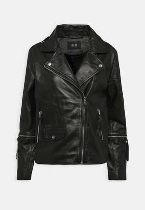 BECCA - Leather jacket - black