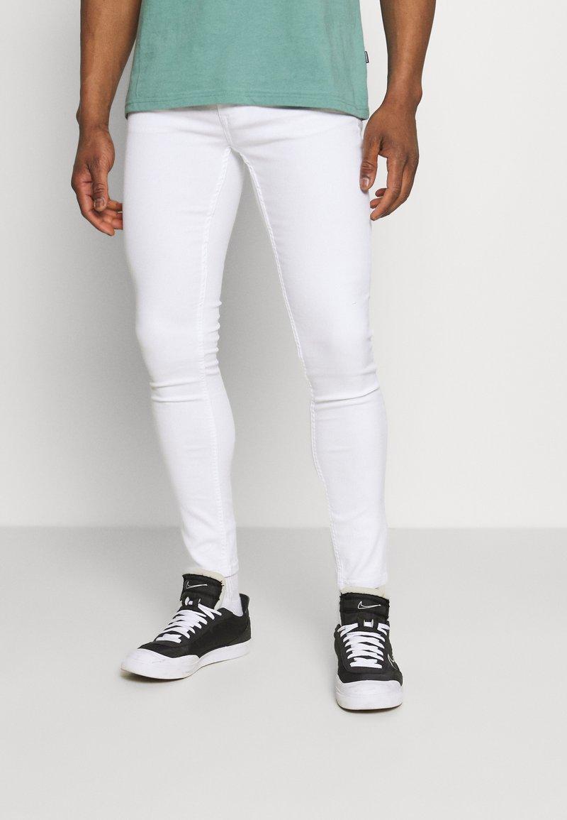 Only & Sons - ONSWARP LIFE CROP - Slim fit jeans - white denim