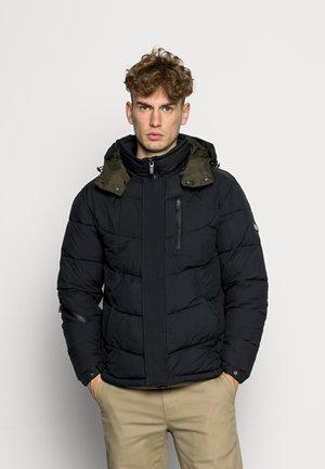HOODED WATER REPELLENT PUFFER JACKET - Winter jacket - night