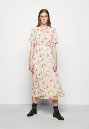 RUNGE - Maxi dress - rose/ecru