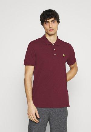 PLAIN - Polo shirt - merlot