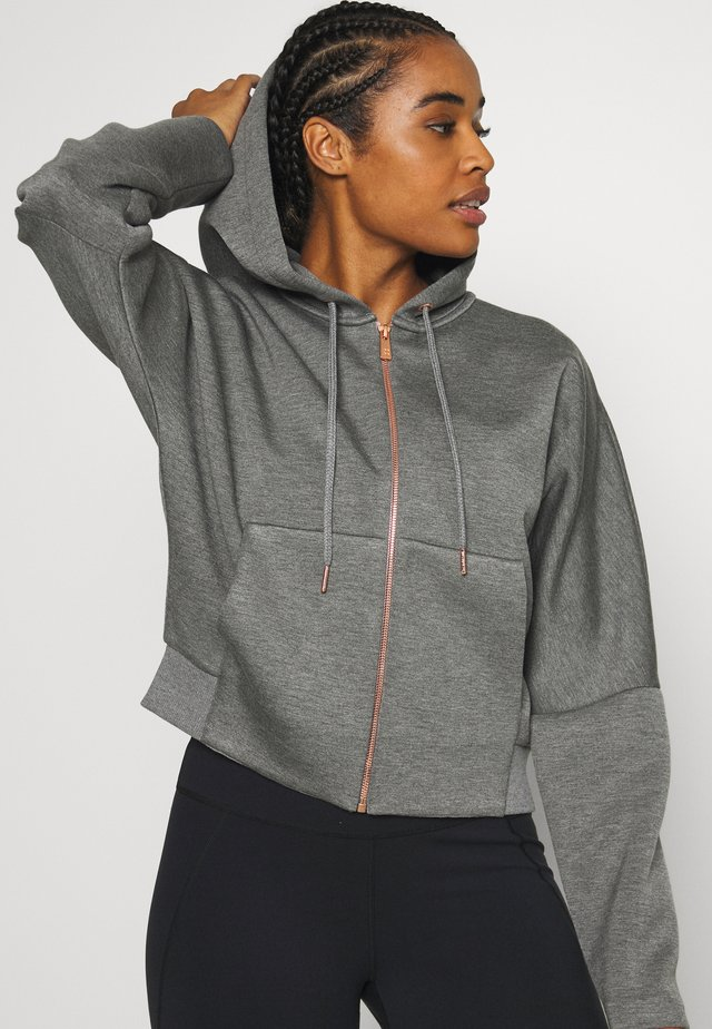 COOL IT HOODY - Felpa aperta - charcoal marl