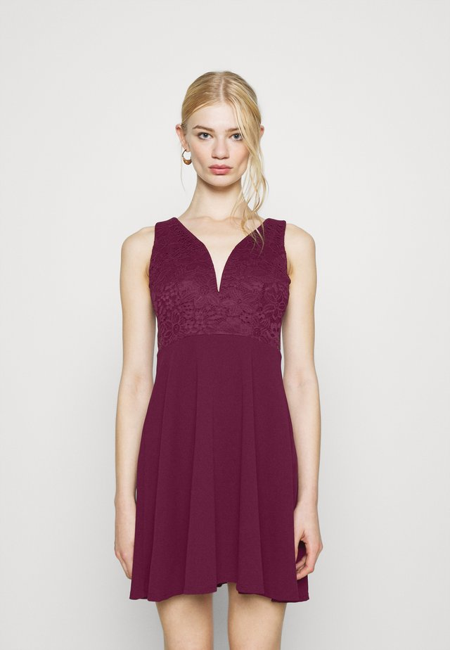 CHRISTINA SKATER DRESS - Cocktail dress / Party dress - plum