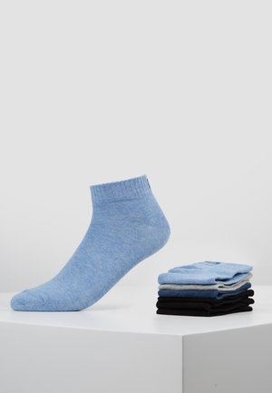 QUARTER PLAIN SOCKS 7 PACK - Socks - new sky/black