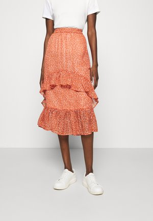 XELINASZ SKIRT - A-line skirt - red orange