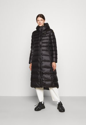 BASIC COAT LONG LENGTH HOOD - Donsjas - black