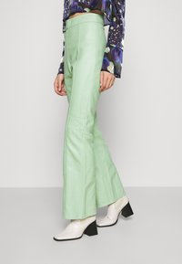 HOSBJERG - VALORA PANTS - Leather trousers - mint - 3