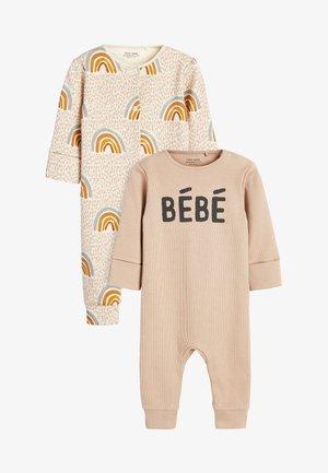 2 PACK SLOGAN RAINBOW - Sleep suit - tan