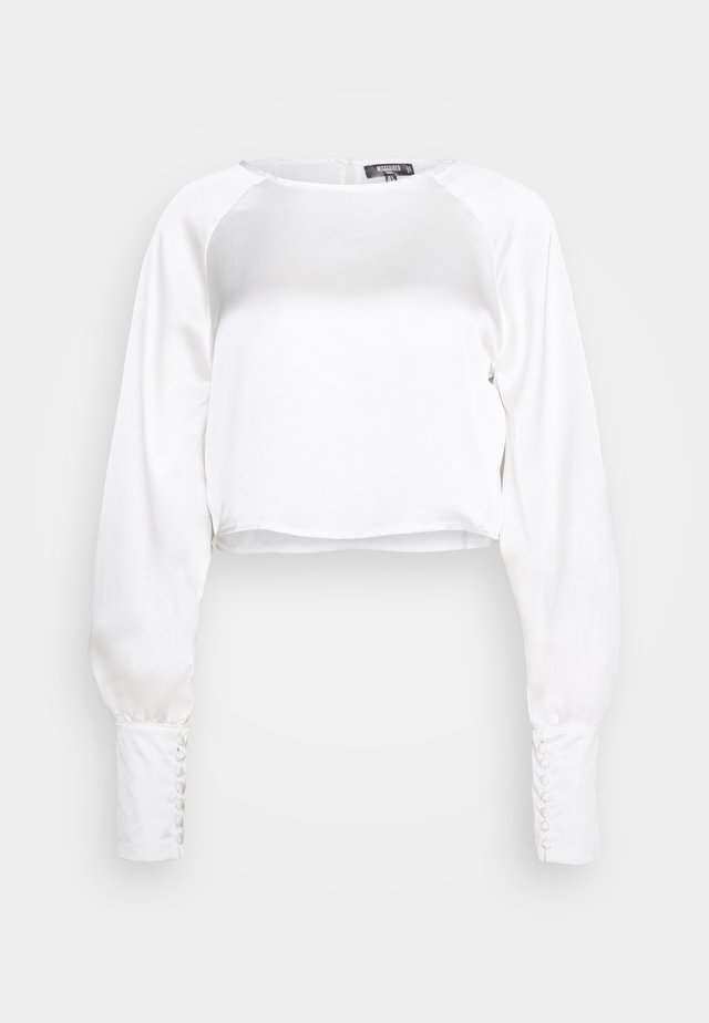 LONG SLEEVE ROUND NECK  - Bluzka - white