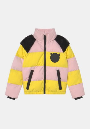 STACK UNISEX - Winter jacket - chalk pink/optional yellow