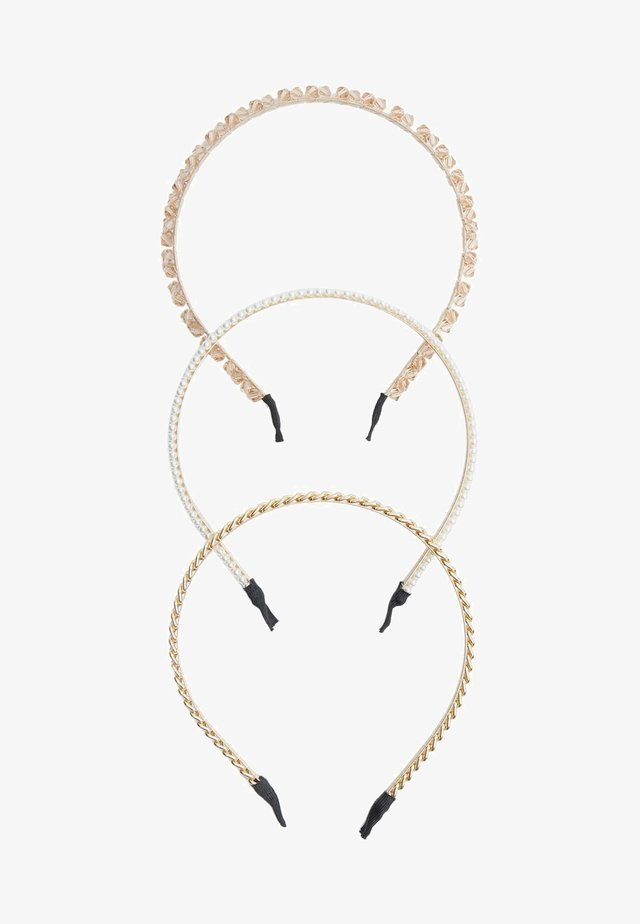 3 PACK - Haar-Styling-Accessoires - gold