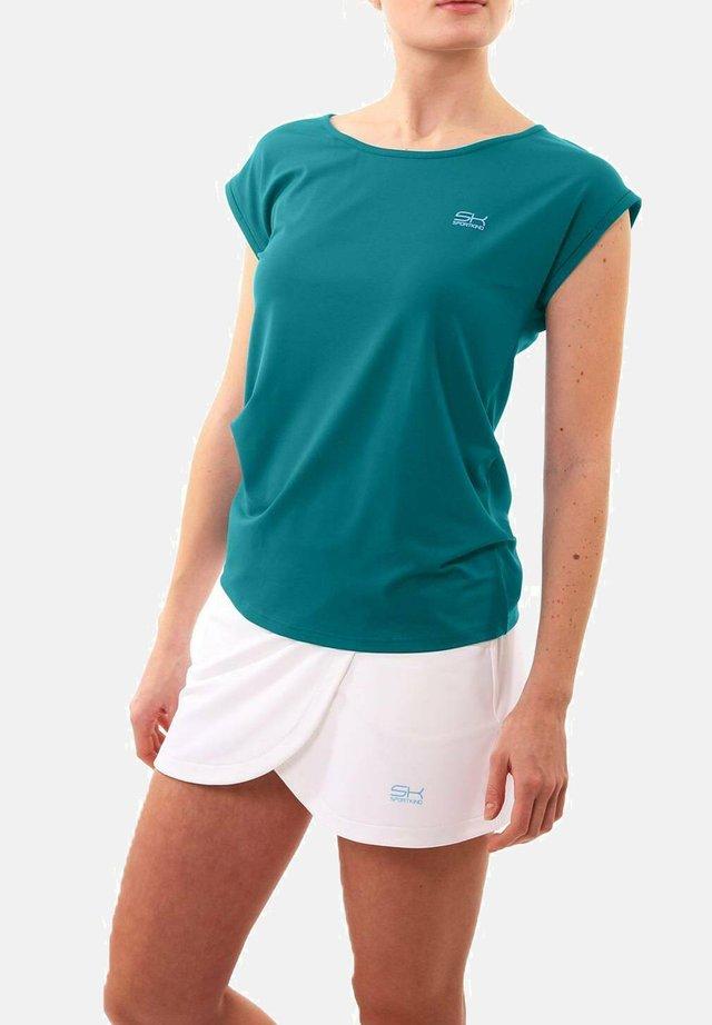 Basic T-shirt - petrol grün