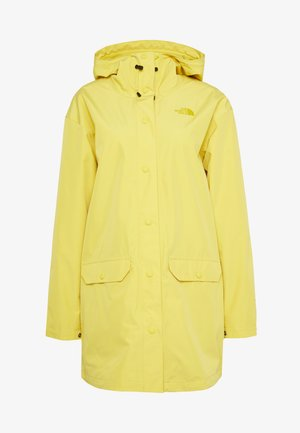 WOMENS WOODMONT RAIN JACKET - Chaqueta Hard shell - bamboo yellow