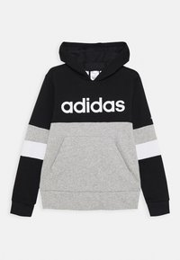 adidas Performance - Bluza z kapturem - black/medium grey heather/white - 0