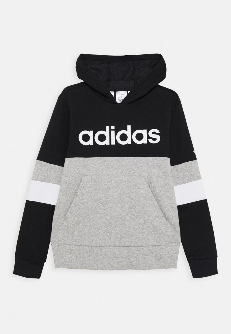 adidas Performance - Bluza z kapturem - black/medium grey heather/white