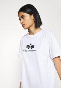 Alpha Industries - BASIC LONG - Jersey dress - white - 3