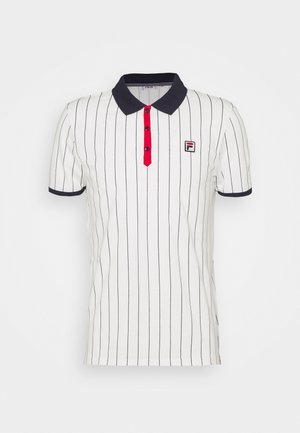 Polo shirt - blanc de blanc/true red/black iris