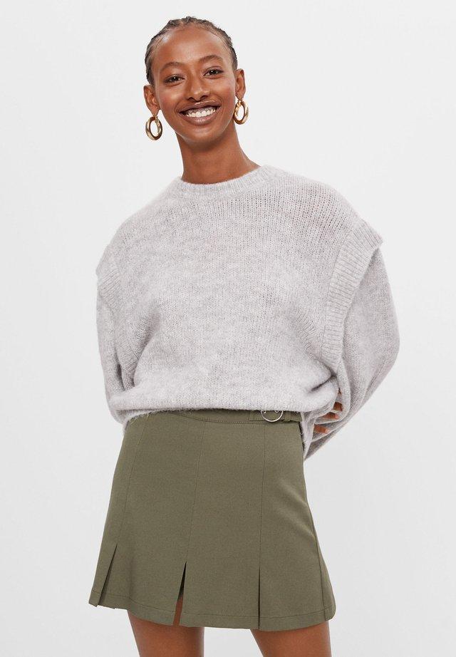 KARIERTER - Jupe plissée - khaki
