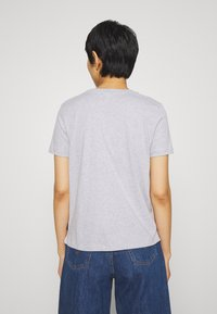 Calvin Klein - ZEBRA PRINT FILLED LOGO REGULAR FIT TEE - Print T-shirt - light grey heather - 2