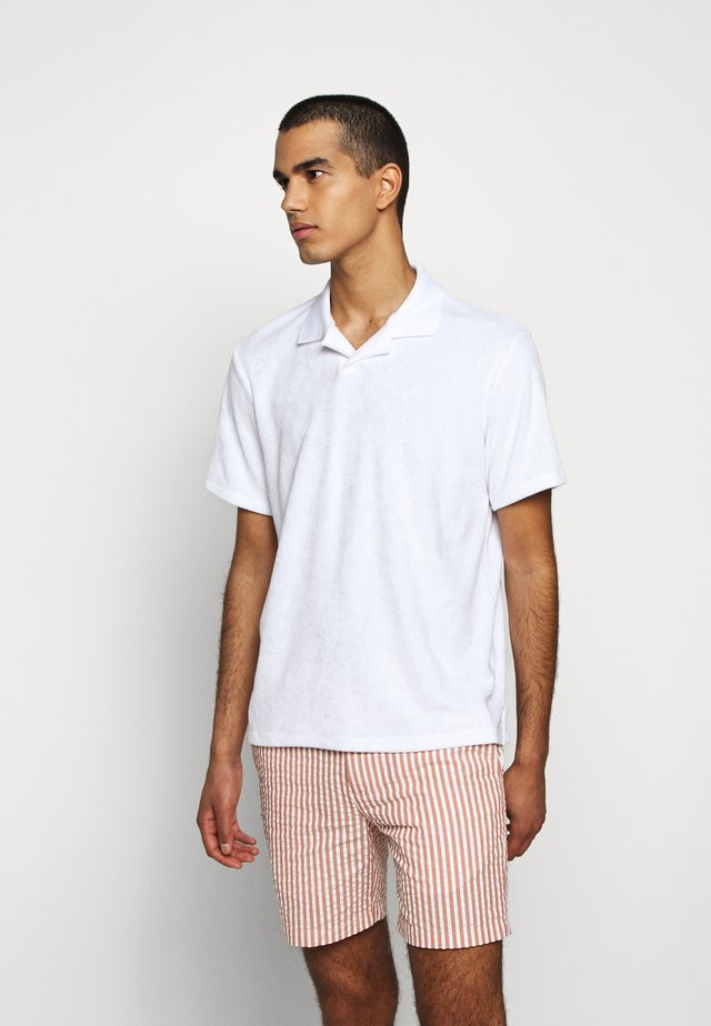 TERRY POLO - Poloshirt - paper white