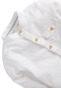 Next - BLUE LONG SLEEVE LINEN MIX GRANDAD SHIRT (3MTHS-7YRS) - Overhemd - white - 2