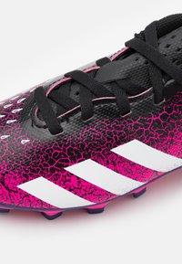 adidas Performance - PREDATOR FREAK .4 FXG UNISEX - Moulded stud football boots - shock pink/footwear white/core black - 5