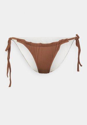 REVERSIBLE MELISSA TIE SIDE BRAZILIAN - Bikini bottoms - brown/cream