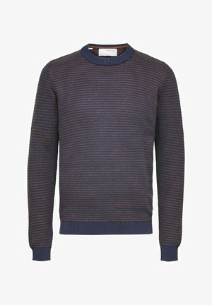 GESTREIFTER - Stickad tröja - navy blue