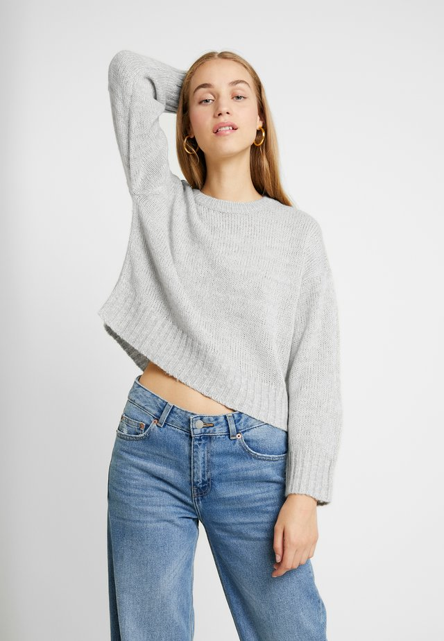 BOXY STRAIGHT SLEEVE - Pullover - light grey