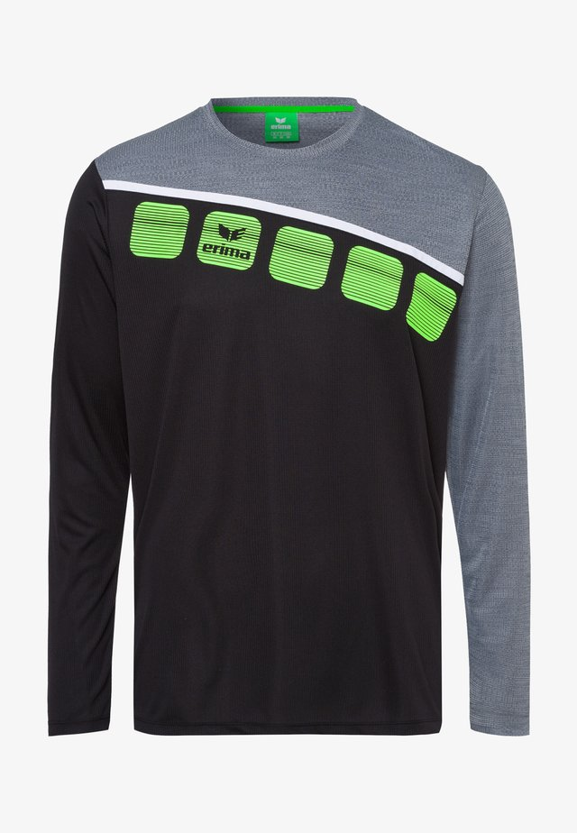 5-C TRAININGSSHIRT KINDER - Sports shirt - black / grey