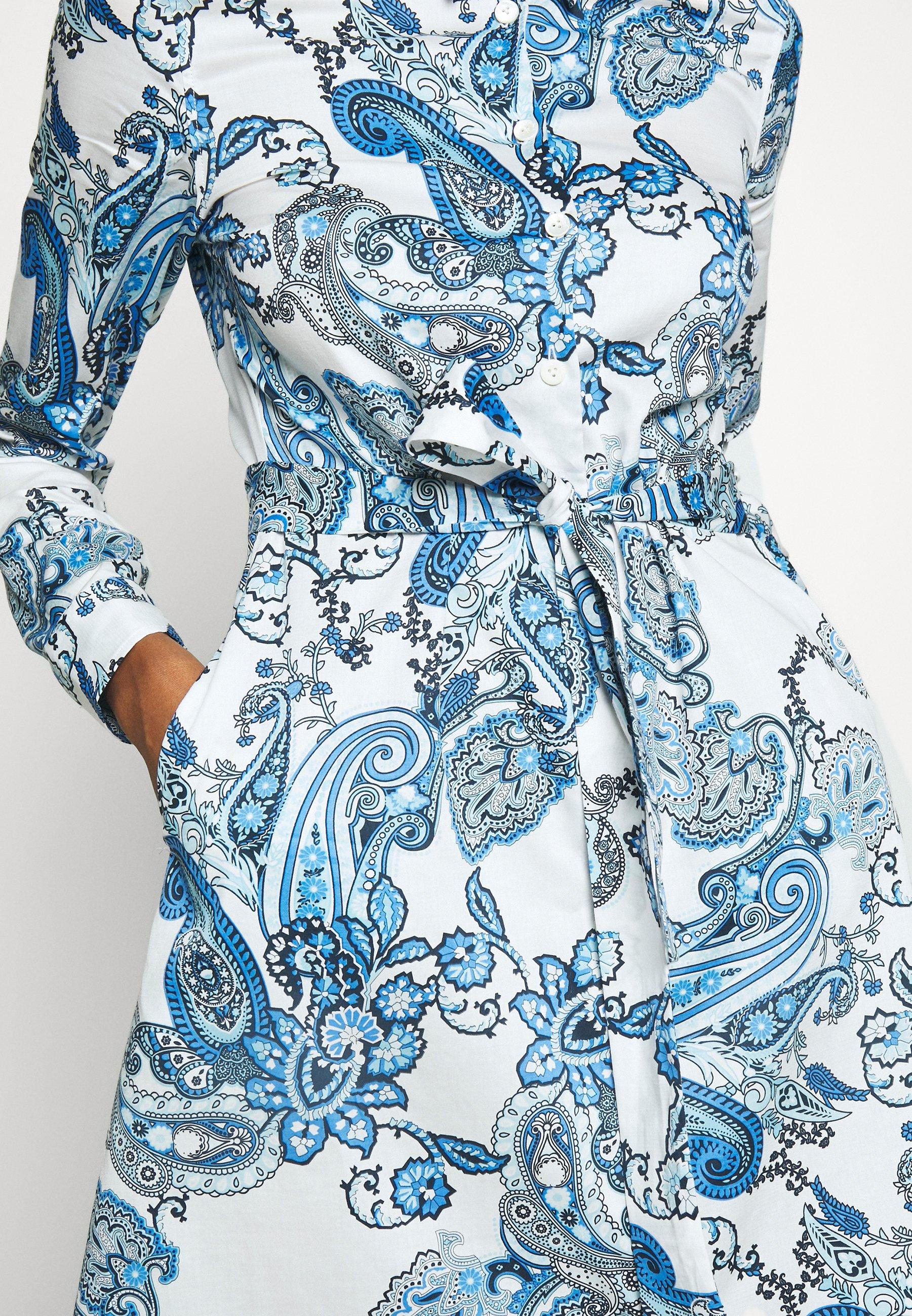 van Laack KANA - Skjortekjole - blau
