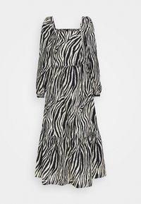 YAS - YASZEBRILLA ANKLE DRESS - Maxi dress - black/white - 0