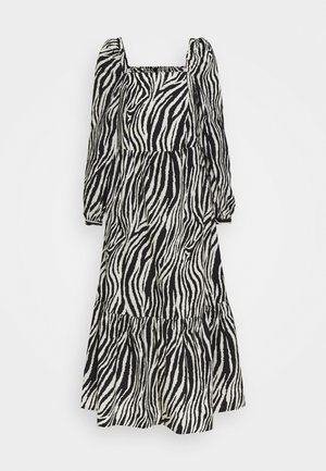 YASZEBRILLA ANKLE DRESS - Maxi dress - black/white