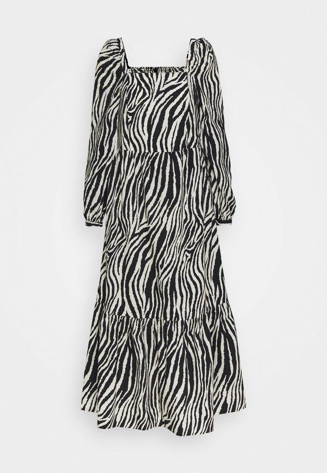 YASZEBRILLA ANKLE DRESS - Robe longue - black/white