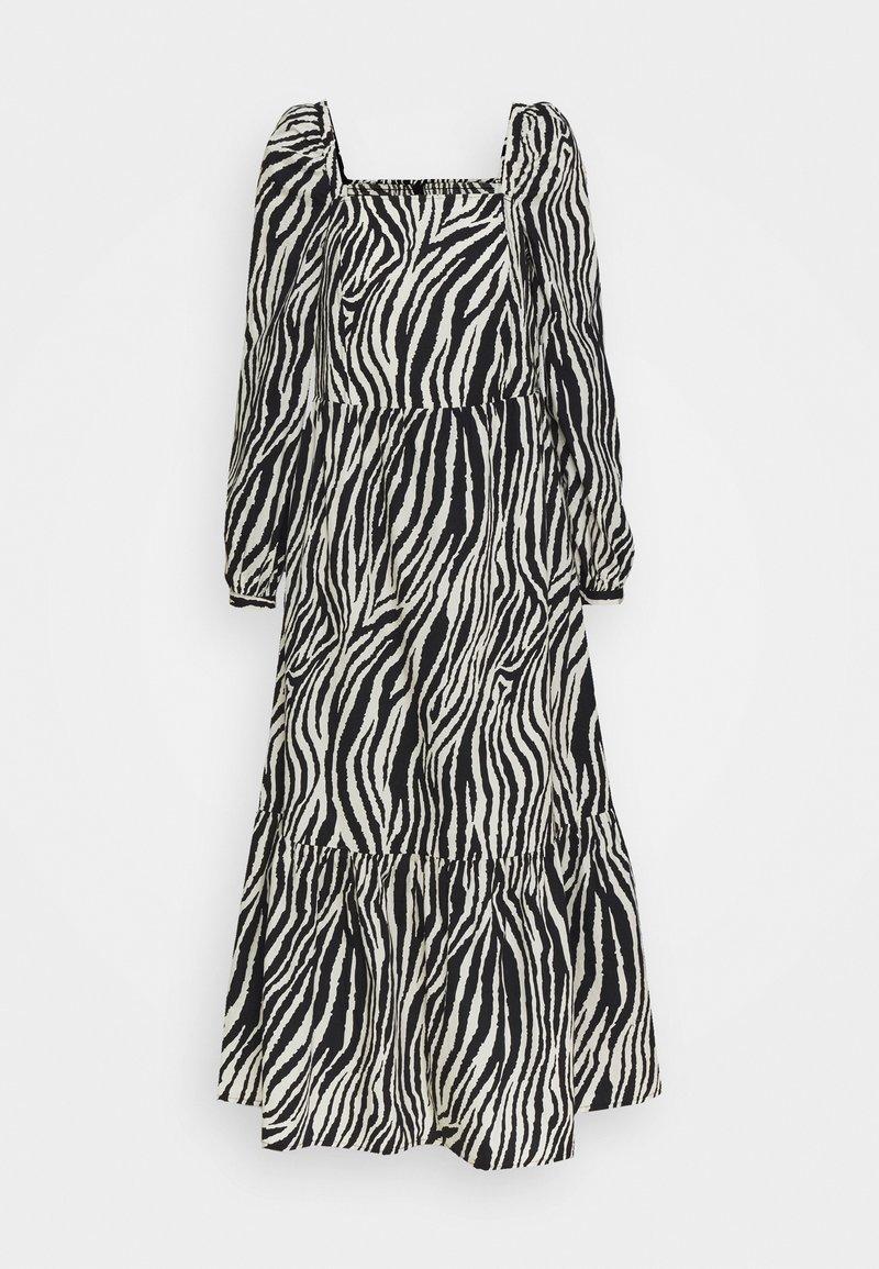 YAS - YASZEBRILLA ANKLE DRESS - Maxi dress - black/white