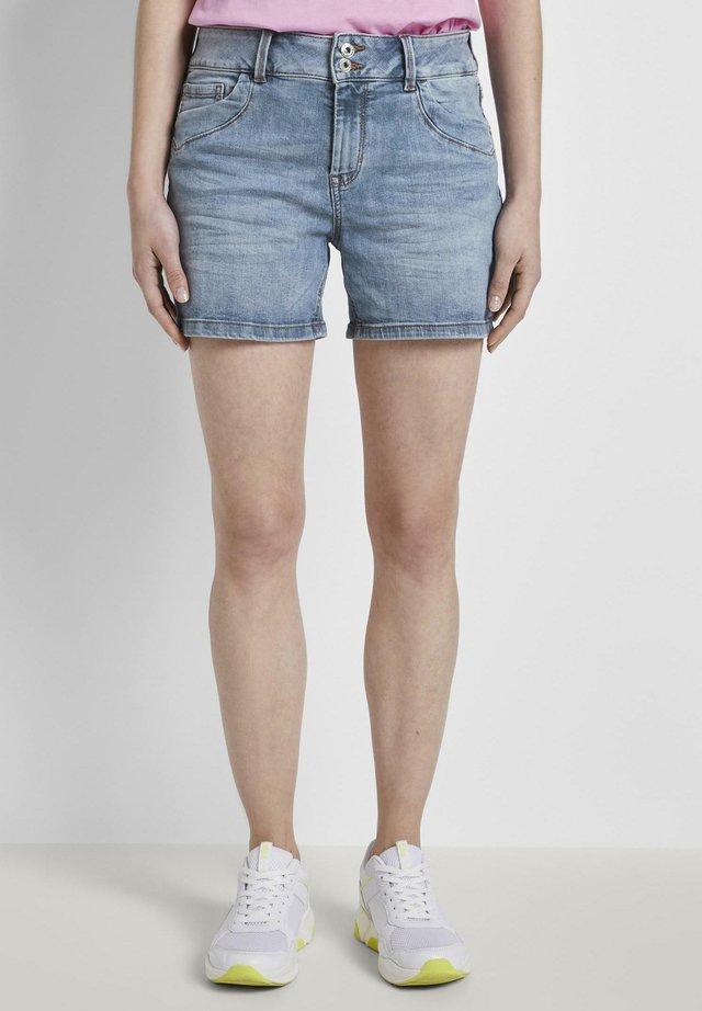 CAJSA - Shorts di jeans - used light stone blue denim