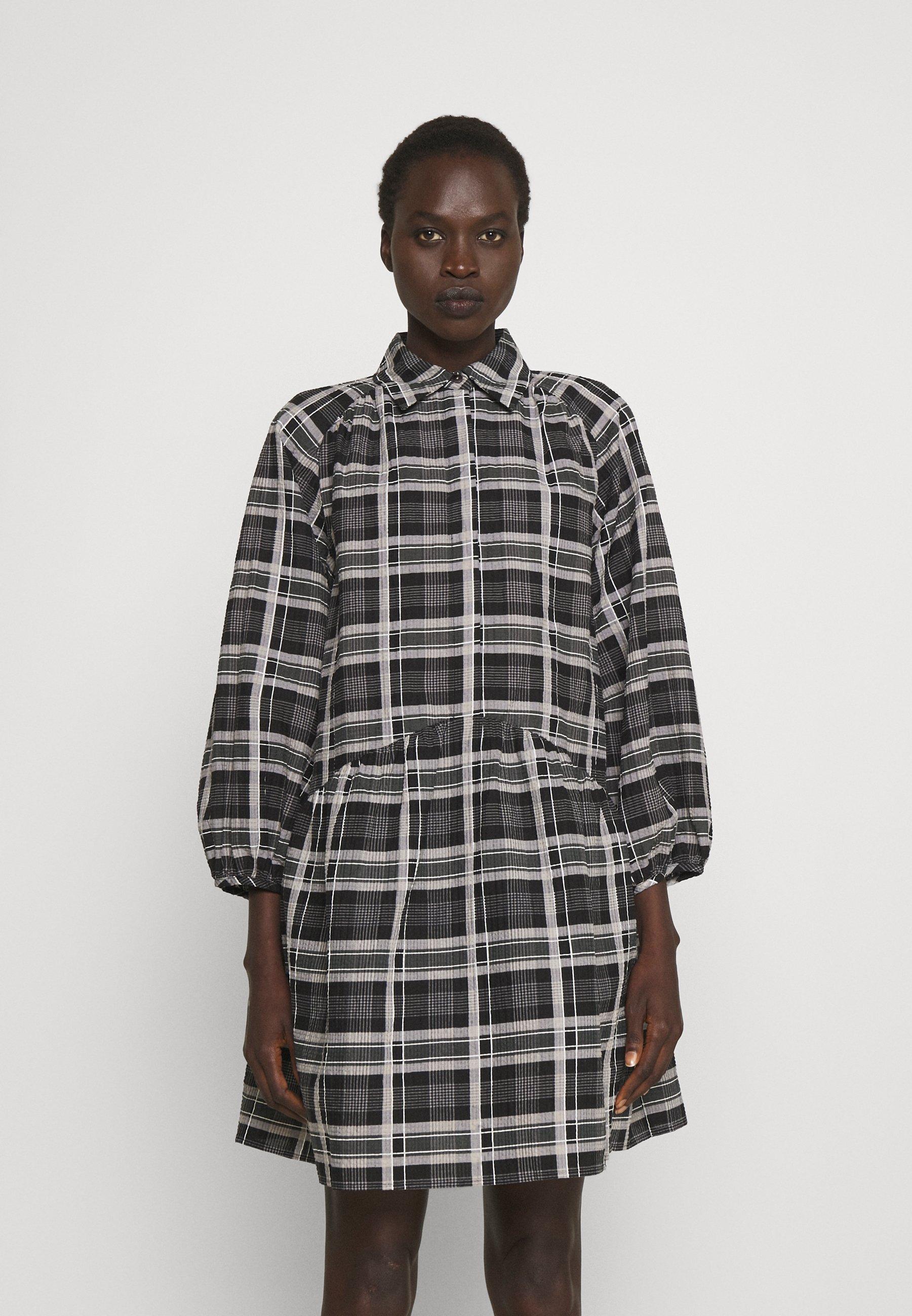 Mujer PUFF SHIRT DRESS - Vestido camisero