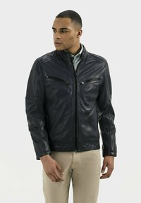 camel active - Leather jacket - navy - 0