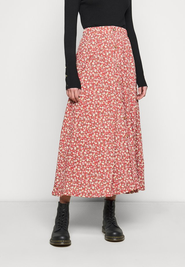 ONLPELLA MAXI SKIRT - Maksihame - mineral red