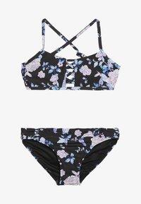 Seafolly - FLORAL CROSS FRONT TANKINI SET - Bikini - black - 2