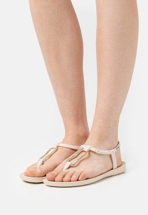 MOOD FEM - T-bar sandals - beige/gold