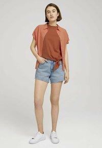 TOM TAILOR DENIM - Print T-shirt - sundown coral - 1