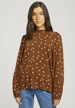 RAFFUNGEN - Blouse - brown dot print