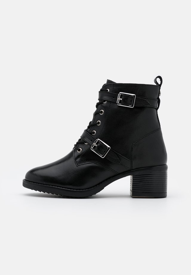 WIDE FIT PAXTONE - Lace-up ankle boots - black
