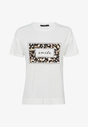 MIT LEO FRONTPRINT - T-shirt print - offwhite